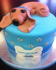 Adorable Daschund Puppy Cake--For Grandpa J! Dachshund Cake, Dachshund Funny, Daschund, Dog Cakes, Cupcake Cakes, Beautiful Cakes, Amazing Cakes, Puppy Cake, Puppy Cupcakes
