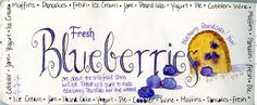 Painted Thoughts Blog: Painting Blueberries - A Video!
