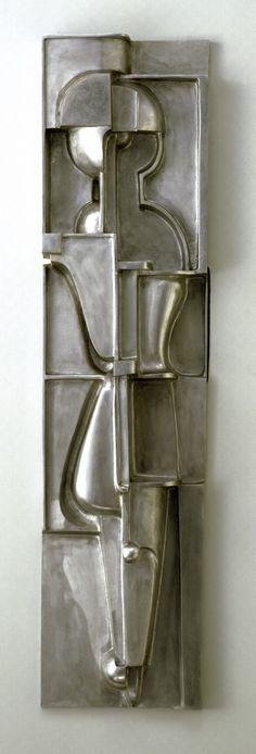"Oskar Schlemmer, ""Architectural sculpture R"", 1919 / Bauhaus-Archiv Berlin… Bauhaus Art, Bauhaus Style, Bauhaus Design, Theo Van Doesburg, Architectural Sculpture, Walter Gropius, Steel Sculpture, Design Research, De Stijl"