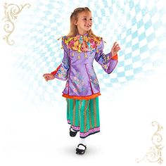 Alice Through The Looking Gl Deluxe Costume For Kids Fairy Tale Costumes Family