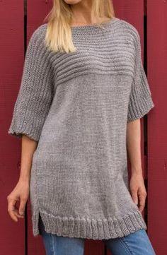 Свободный свитер с цельнокроеным рукавом