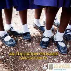 education gives girls opportunities they would not otherwise have, helping them to break the cycle of poverty