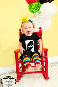 UNO First Birthday Girl Dress - Fun, Unique Outfit for her first birthday -  Excellent Photo Prop