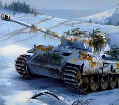 Panther Panzer Winter Division of 1944 in the Carpathians ~ BFD Military Art, Military History, Ww2 Panzer, Armoured Personnel Carrier, Tank Armor, World Of Tanks, Battle Tank, Ww2 Tanks, German Army