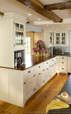 Love the coffee away from everything else on the counter Awesome Farmhouse Kitchen Design Ideas 5900 – DECOOR