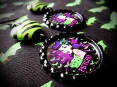 Psycho earrings by LttleShopOfHorrors on Etsy, $6.50