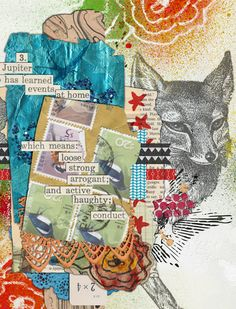 Digital art Journal Page by Tangie Baxter in the Art Journal Caravan 2013 Gallery