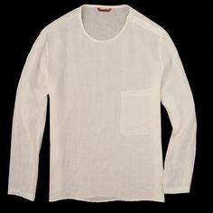 UNIONMADE - Barena - Linen Long Sleeve Crew Zuane Tee in Bianco