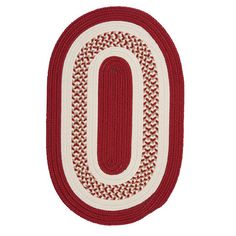 Charlton Home Germain Red & Beige Indoor/Outdoor Area Rug Rug Size: Oval 3' x 5'