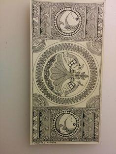 """Тема птиц: раздел """"птицы в орнаменте или в народном творчестве"""" Madhubani painting"""