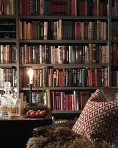 60 Wonderful Home Library Design Ideas To Make Your Home Look Fantastic. Home libraries are important resources for both you and your children. The reference material can provide quick and easy look-u. Library Room, Dream Library, Library Cafe, Mini Library, Up House, Cozy House, Home Library Design, Cozy Home Library, Library Ideas