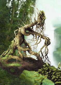 tree creature by digital-fantasy.deviantart.com on @deviantART