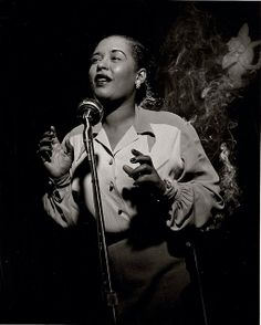 Billie Holiday (1915-1959) - American jazz singer and songwriter. Photo Herman Leonard