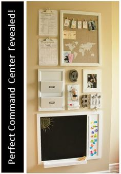 Kitchen command center - family organizer revealed !!!