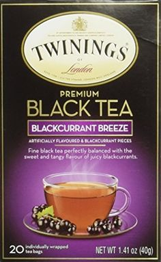 Twinings Blackcurrant Tea Tea Bags 20Count Boxes Pack of 6 *** Check out this great product. Note: It's an affiliate link to Amazon.