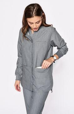 You asked for it and we delivered. The Tangier scrub jacket is finally here. Supremely functional with a relaxed, sporty fit and snap closure, our scrub jacket is lightweight, durable and guaranteed to hold this, that and that other thing.