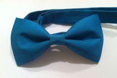 Mens teen boy women's cerulean blue bow tie with by chamomileblu, $20.00
