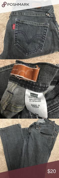 Levi's boot cut grey jeans size 3 Good condition Levi's bootcut grey jeans size three juniors Levi's Jeans Boot Cut