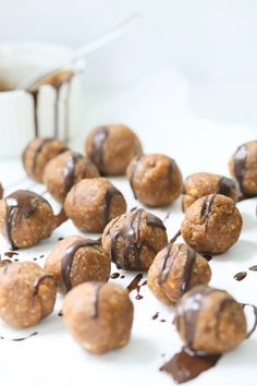 Made very chewy and thick 3 ingredient Almond butter bites. These are healthy, gluten-free and vegan. Super easy to make. Whole Food Recipes, Snack Recipes, Cooking Recipes, Healthy Desserts, Healthy Recipes, High Protein Snacks, Healthy Protein, Protein Bars, Eat Healthy