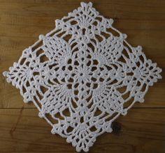 Crochet Dollies, Crochet Lace Edging, Crochet Motifs, Easter Crochet, Crochet Flowers, Crochet Stitches, Free Crochet, Crochet Patterns, Crochet Placemats