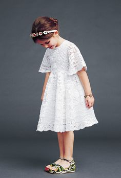 Dolce & Gabbana – Children Collection Gallery – Fall Winter 2014 2015 - would make an amazing and extravagant flower girl or formal dress!