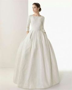 Vestido de novia modesto