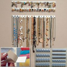 9 in 1 Adhesive Paste Wall Hanging Storage Hooks Jewelry Display Organizer Necklace Hanger brand new and high quality Material:Plastic color:white package pcs Jewelry Hooks Jewelry Wall Hanger, Jewelry Hooks, Necklace Hanger, Necklace Display, Jewelry Armoire, Jewellery Storage, Jewellery Display, Ring Necklace, Jewelry Stand