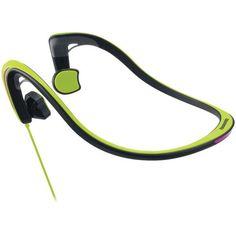 PANASONIC RP-HGS10-G Open-Ear Bone Conduction Headphones with Reflective Design (Green)