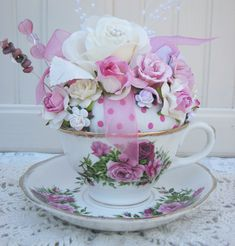 Teacup and Saucer Pincushion