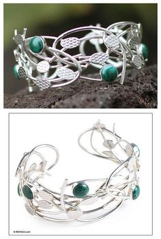 Chrysocolla cuff bracelet, 'Branches'. Shop from #UNICEFMarket and help save the lives of children around the world.