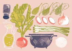 Food Parade by Hayelin Choi, via Behance