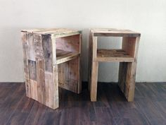 reclaimed wood nightstands night stand end accent bedside bed table stand beach house cabin