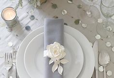 Handcrafted Paper Roses napkin ring holder
