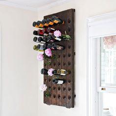 Look! Repurposed Floor For Wine & Flowers