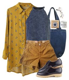"""navy & honey"" by paper-freckles ❤ liked on Polyvore featuring Chicnova Fashion, MINKPINK, Levi's Made & Crafted, Retrò, YMC and L'Occitane"