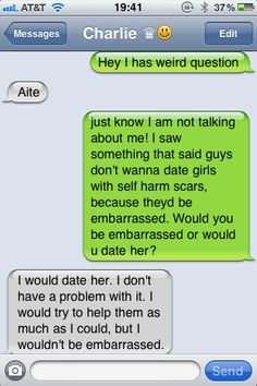 self harm scars and dating