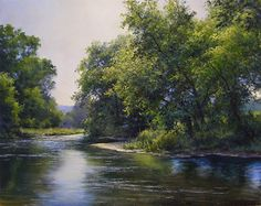 Early Summer on the Mettawee River by Andrew Orr Oil ~ 11 x 14