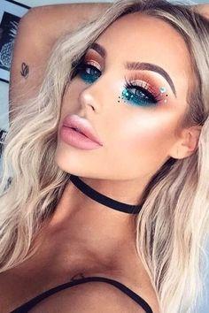 38 Hottest Eye Makeup Looks 2019 für Frauen Makeup Trends 2019 coachella makeup trends 2019 Makeup Trends, Makeup Inspo, Makeup Art, Makeup Inspiration, Makeup Tips, Beauty Makeup, Hair Makeup, Makeup Ideas, Fun Makeup