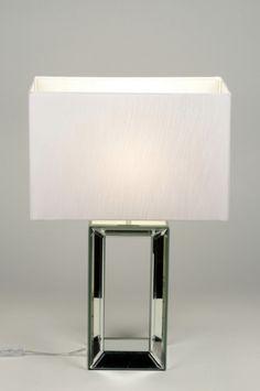 artikel 88221 http://www.rietveldlicht.nl/artikel/tafellamp-88221-modern-glas-stof-wit-rechthoekig