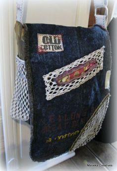 Old Cotton Cargo Robbie schoudertas 1453 blauw | ♥ Old Cotton Cargo Handgemaakte tassen | Malaika Creatives