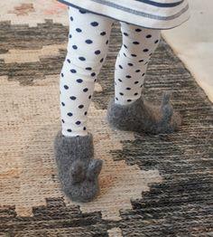 Oui Presse Infant Bunny Slippers by Alder & Co.