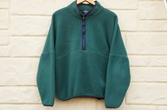 Vintage 90s Patagonia Style Fleece Sweater With by SycamoreVintage