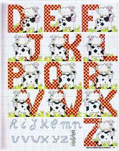 Cows Checkered Alphabet 2 end