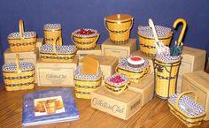 Collection of JW Longaberger miniature baskets.