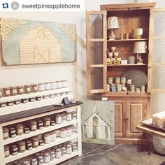 #Repost @sweetpineapplehome  Cozy corner in the shop!  It houses two of our favorite artists new holiday candles (plus our favorite year round fragrances) and small lamps that are a great size for powder baths and kitchens! So much sweet in the shop right now!  #fallfavorites #holidaycandles #homesweethome #homeDecor #southernfirefly #southernfireflycandles #southernfireflycandle #pineapplehome #huntsvilleal