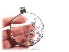 sOWLshine handmade jewelry - amethyst pendant  sowlshine.blogspot.com