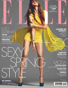 Mexican model and actress Katarina Ivanovska photographed by Kevin Sinclair for the cover shoot of the fashion magazine Elle Mexico for their May 2012 issue.