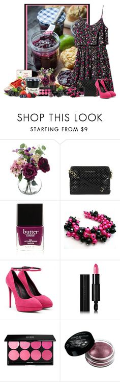 """""""jam"""" by frane-x ❤ liked on Polyvore featuring H&M, Paper Whites, Armani Jeans, Butter London, Giuseppe Zanotti, Givenchy, Edward Bess and Bourjois"""