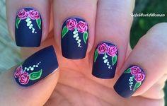 #Matte #rose #nailart - For more #easynails please visit: https://www.youtube.com/user/LifeWorldWomen
