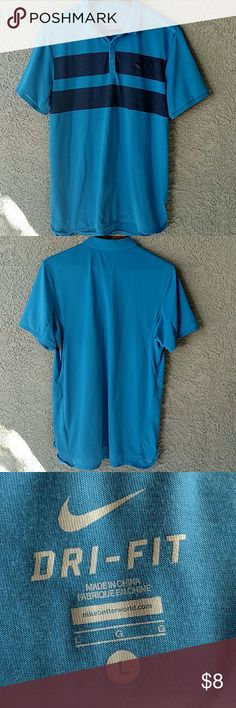Nike Dri-Fit Polo Shirt A blue Nike Dri-Fit Polo Shirt in Great Condition! Nike Shirts